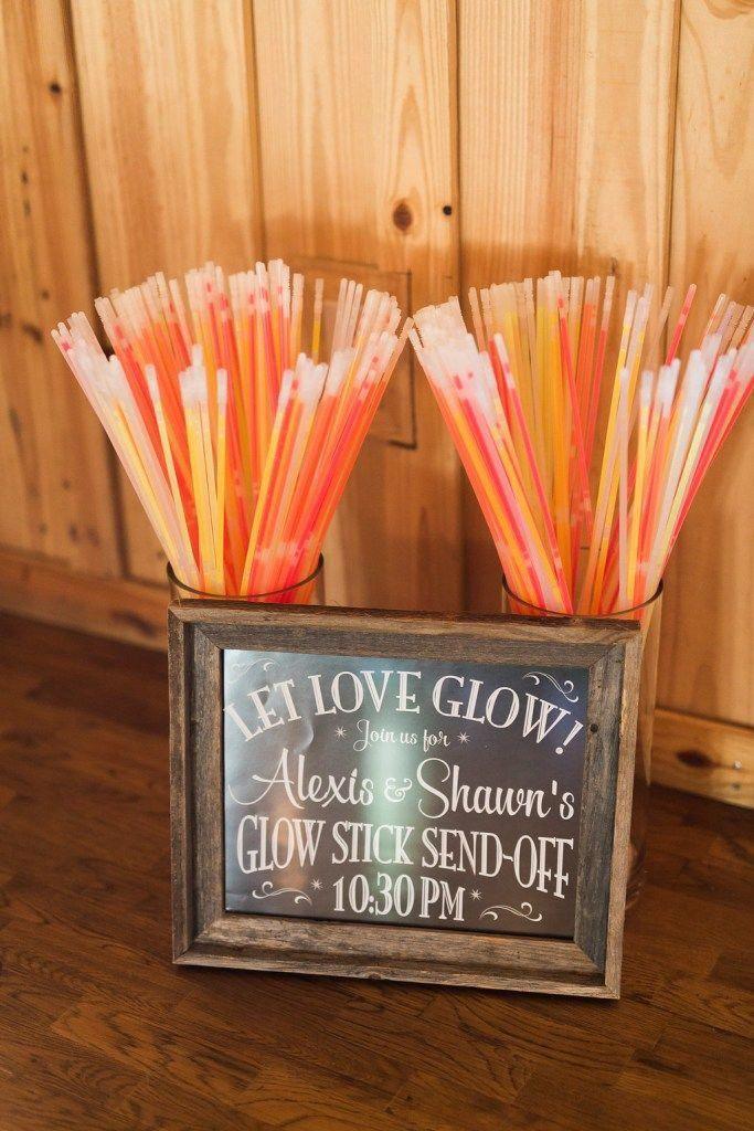 Glow stick wedding send off glowstickweddingexit Glow