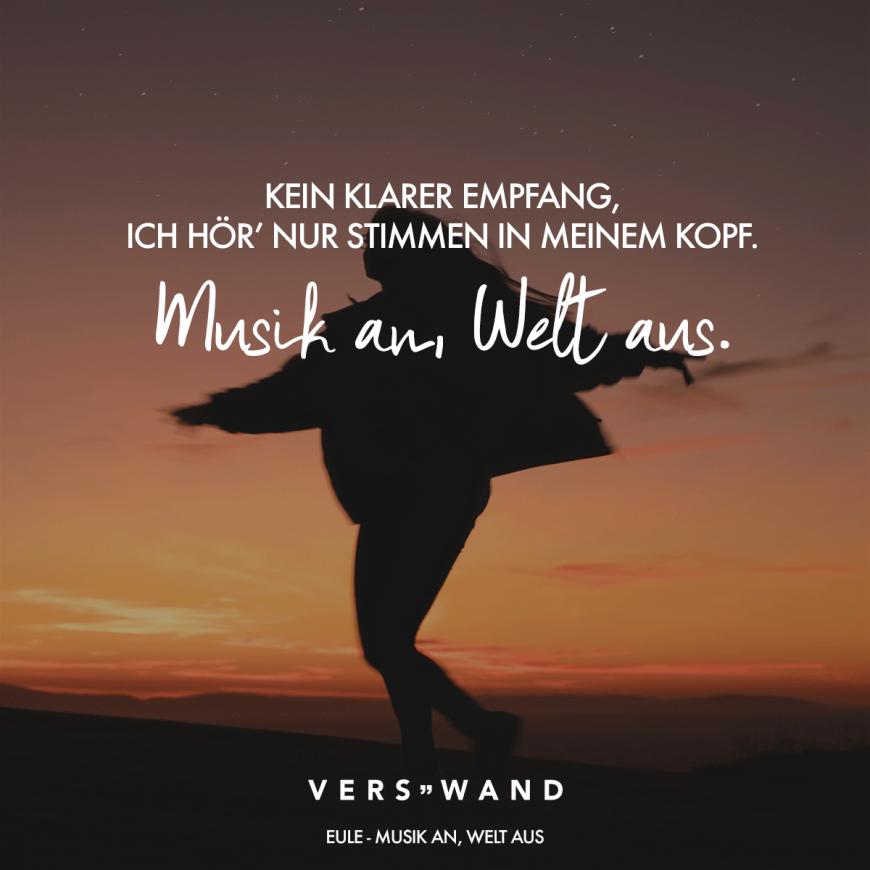 Kein Klarer Empfang Ich Hor Nur Stimmen Im Kopf Musik An Welt Aus Eule Visual Statements Musik An Welt Aus Visual Statements Musik
