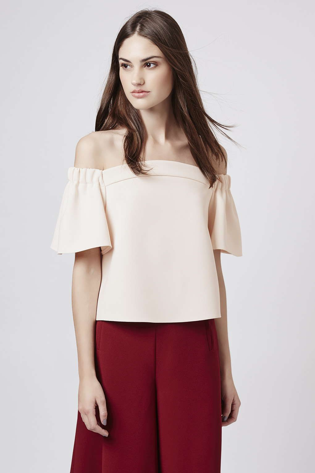 0471704702f2e Structured Bardot Top by Topshop