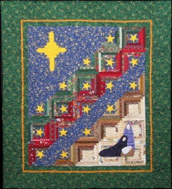 The Virginia Quilter   Quilting Patterns   Quilt Country   Merry Christmas Log  Cabin Quilt Pattern