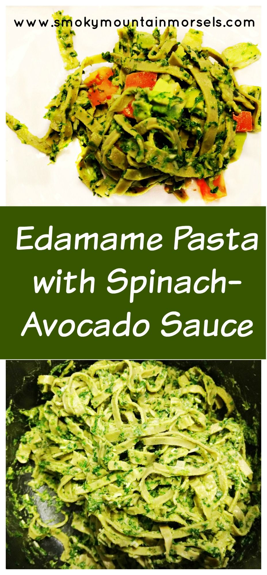 Edamame Pasta With Spinach Avocado Sauce With Images Edamame