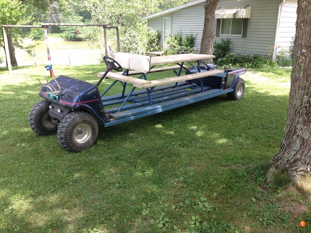 picnic table golf cart