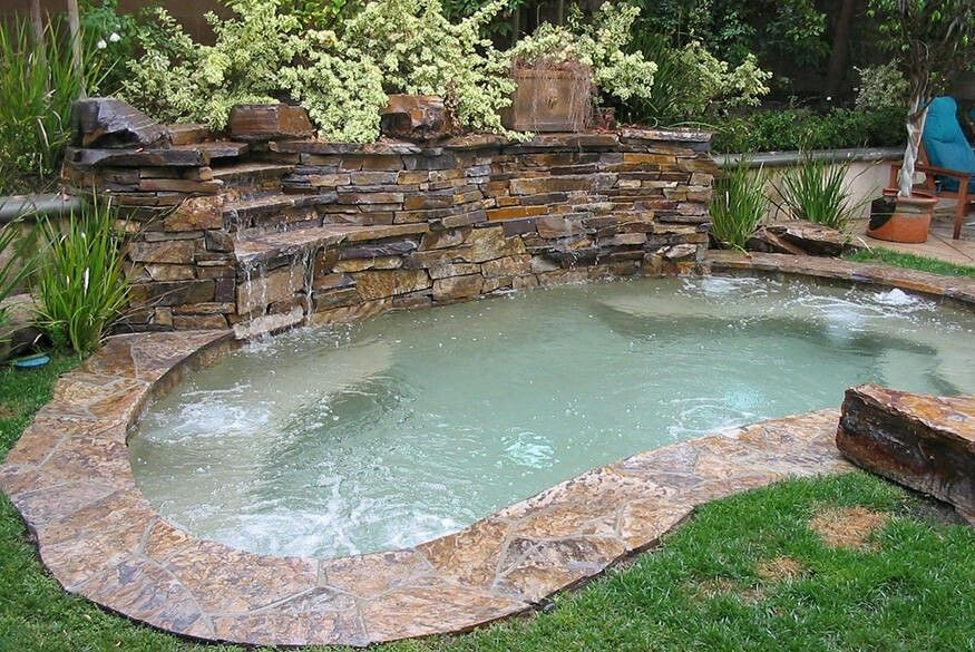 Pin By Custom Built Spas On Spa Small Backyard Pools Small Backyard Design Pool Landscaping