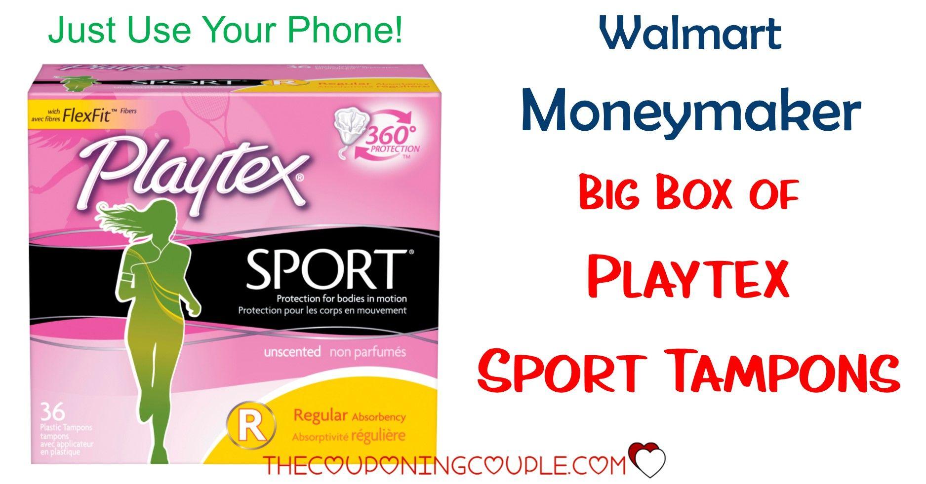 Playtex Sport Tampons MONEYMAKER at Kroger! Store ads