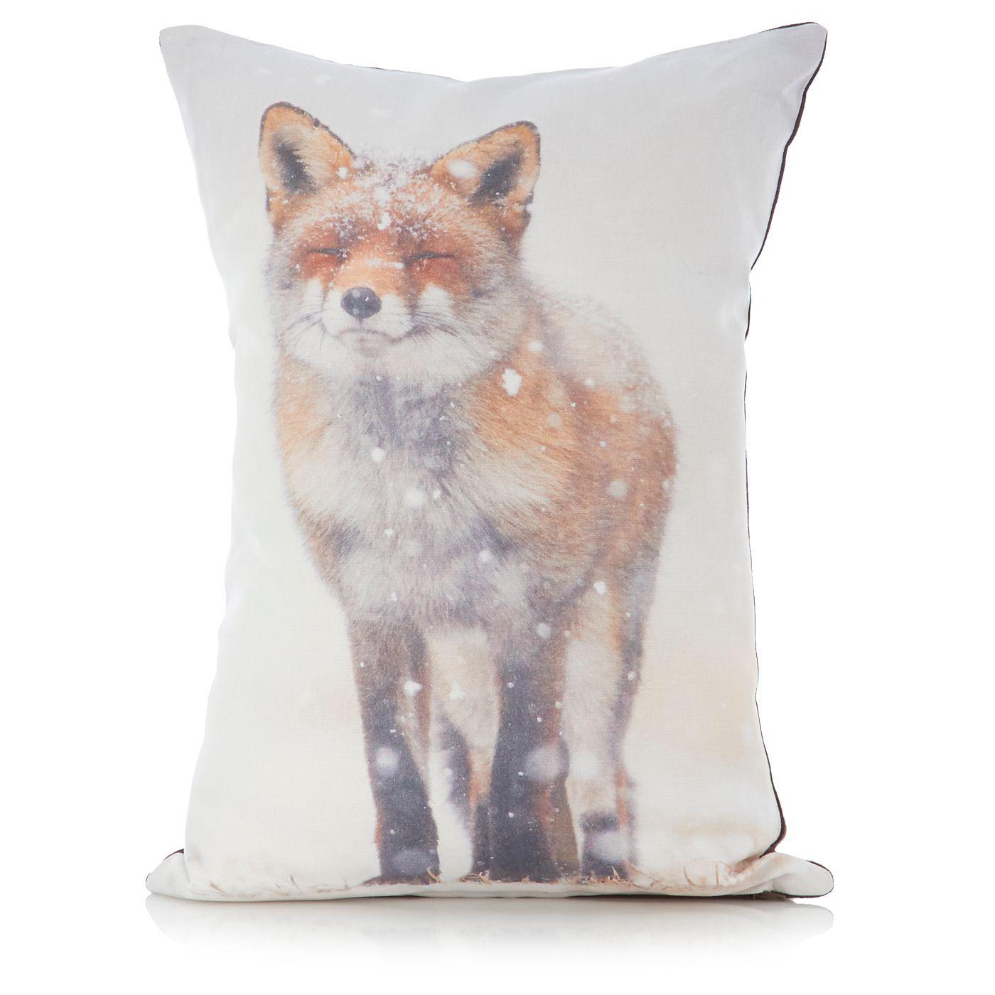 George Home Snow Fox Cushion Cushions Beanbags Throws