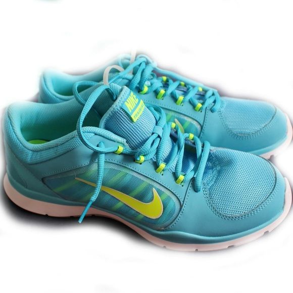 Turquoise Nike Flex Sneakers Turquoise nike sneakers, new