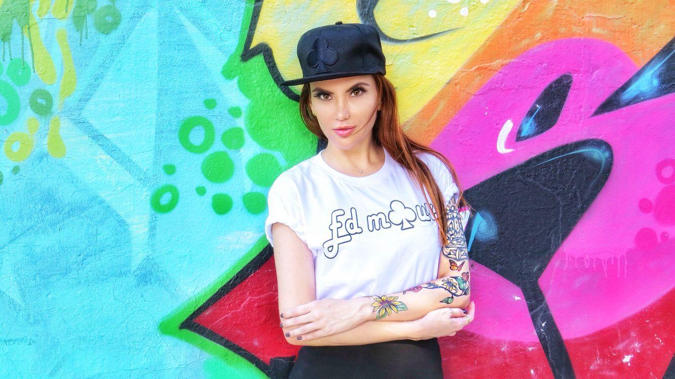 Raphaella Avena #caps #girlsincaps #inkedgirls #tattooedgirls #tattoos