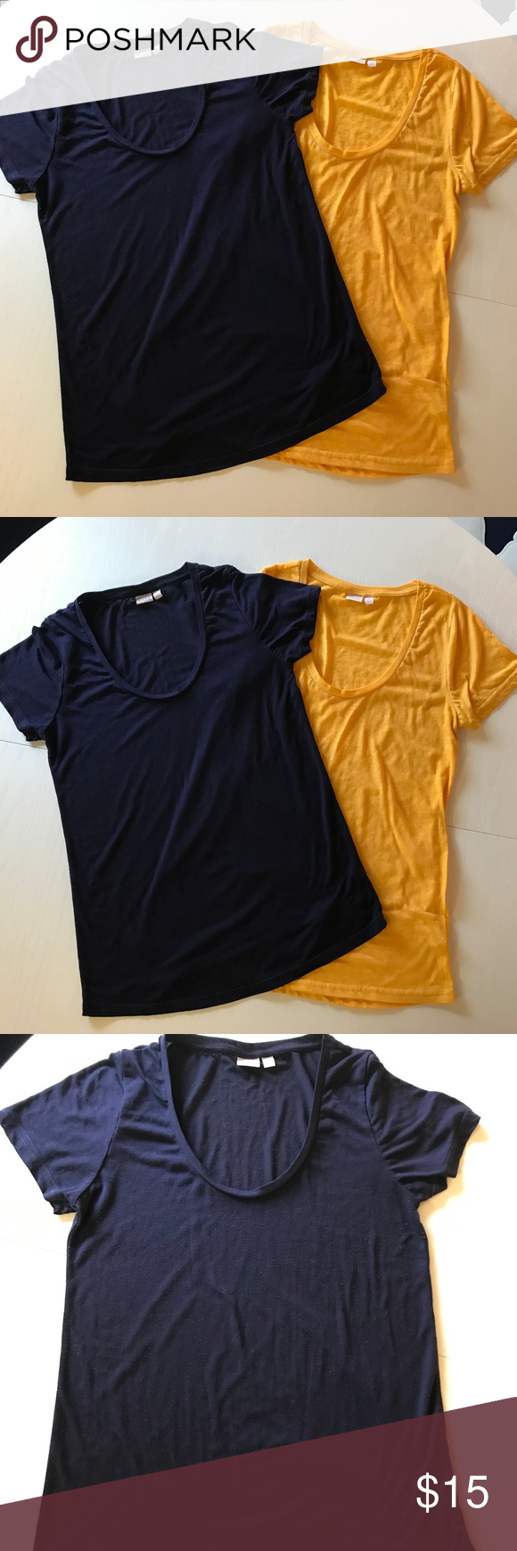 Nordstrom Make + Model 'Gotta Have It' Tees Nordstrom (Brand: Make + Model) 'Gotta Have It' Scoop Neck Tees. Sizes: Small. Colors: Yellow & Dark Blue/Purple. Last picture is a stock picture of current color options at Nordstrom, listed t-shirts are retired colors. Fabrics: 65% polyester, 35% cotton. *Excellent condition, only worn a couple times.* Nordstrom Tops Tees - Short Sleeve #gottahaveit Nordstrom Make + Model 'Gotta Have It' Tees Nordstrom (Brand: Make + Model) 'Gotta Have It' Scoop Neck #gottahaveit