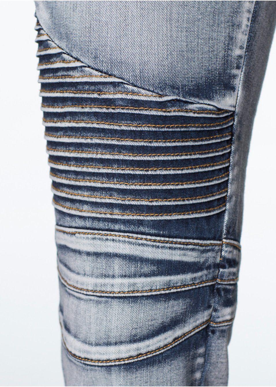 Skinny fit džínsy S výrazným biker • 29.99 € • bonprix