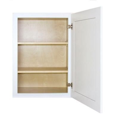 Lakewood Cabinets Shaker Ready To Assemble 9x30x12 In Plywood Wall Cabinet With 1 Soft Close Door In White And 2 Adjustable Shelves Sw W0930 The Home Depot Adjustable Shelving Wall Cabinet Soft