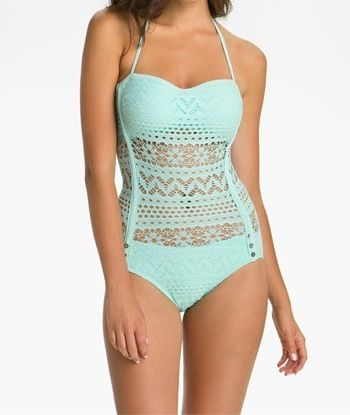 One piece see through middle