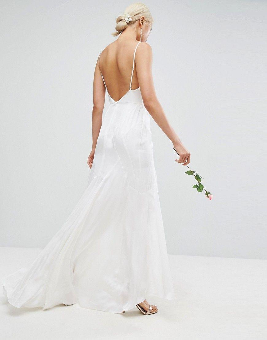 T3h401 Sukienka Slubna Maxi Biala 34 N09 7510357372 Oficjalne Archiwum Allegro Maxi Dress Wedding Dresses Cami Maxi Dress
