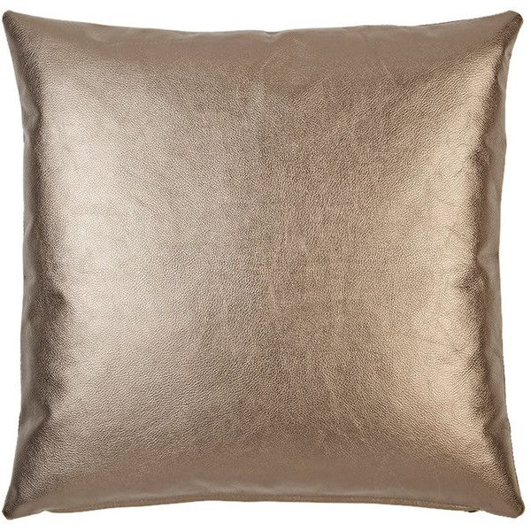 Metallic Leather Front Pillow