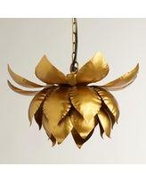 Gold Lotus Hanging Pendant Lamp - World Market