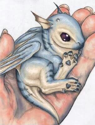 Eeeeeep! I love this baby dragon!
