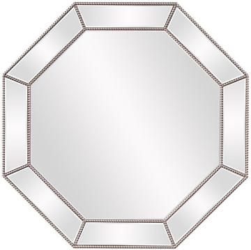 Dover Wall Mirror Octagon Mirror Beveled Mirror Decorative