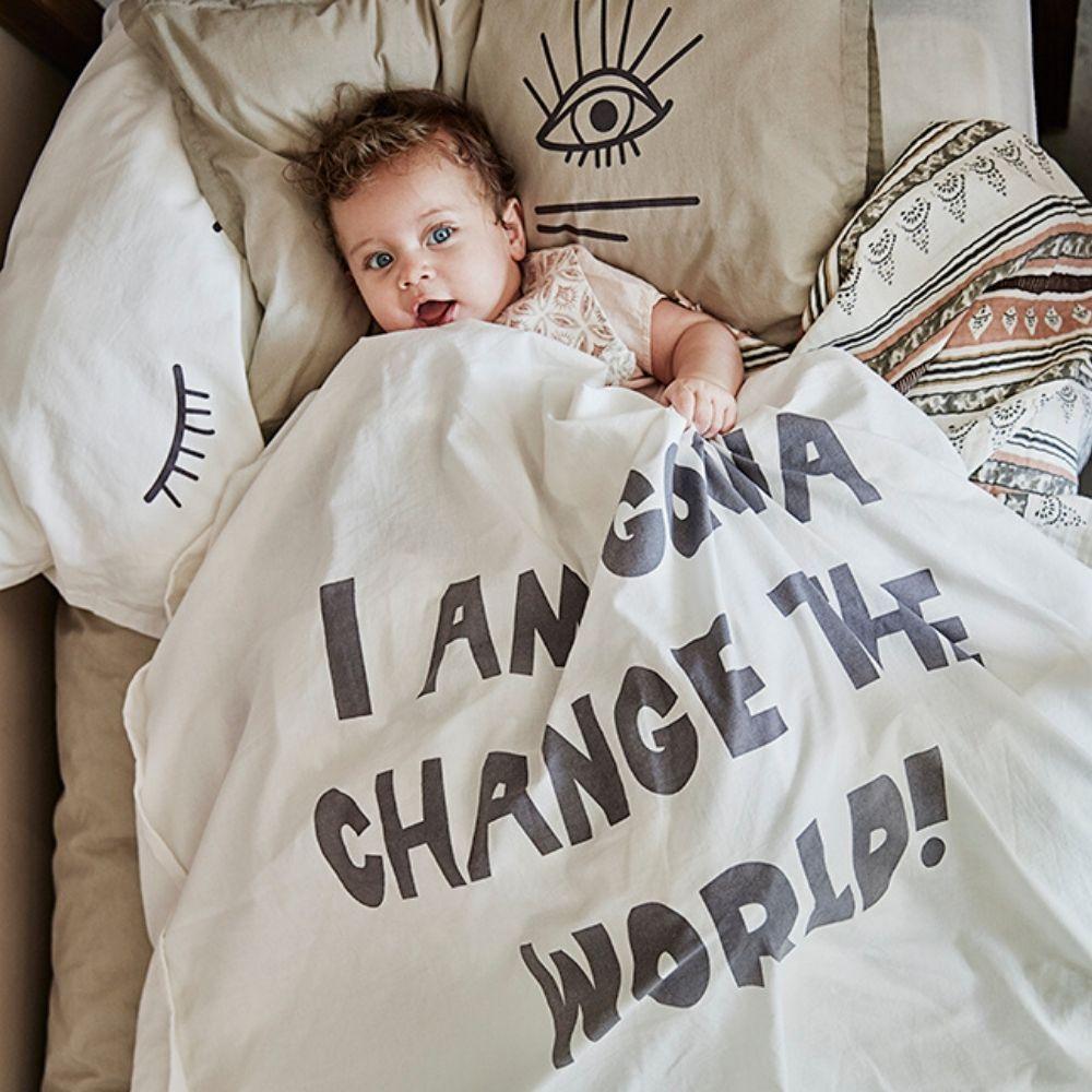 Wyjatkowo Mily W Dotyku Komplet Poscieli Change The World Dla