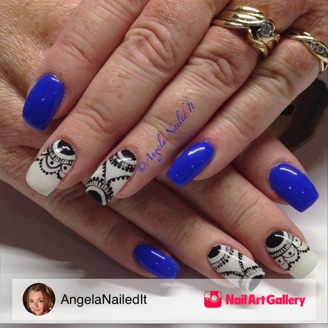 Cobalt Blue by AngelaNailedIt via Nail Art Gallery #nailartgallery ...