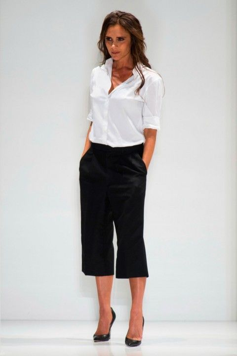 Black culottes outfits for the summer