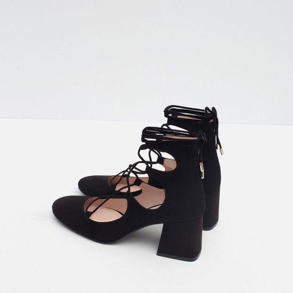 zara tie up sandals