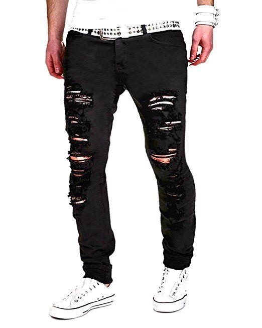 klassisch Shop für Beamte New York Minetom Sommer Herren Mode Casual Lange Jeans Hose Straight ...