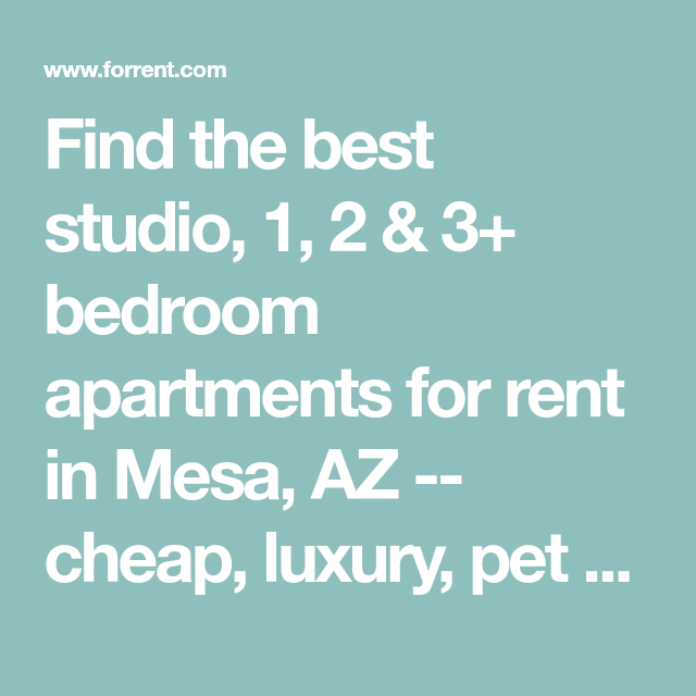 Find The Best Studio, 1, 2 & 3+ Bedroom Apartments For