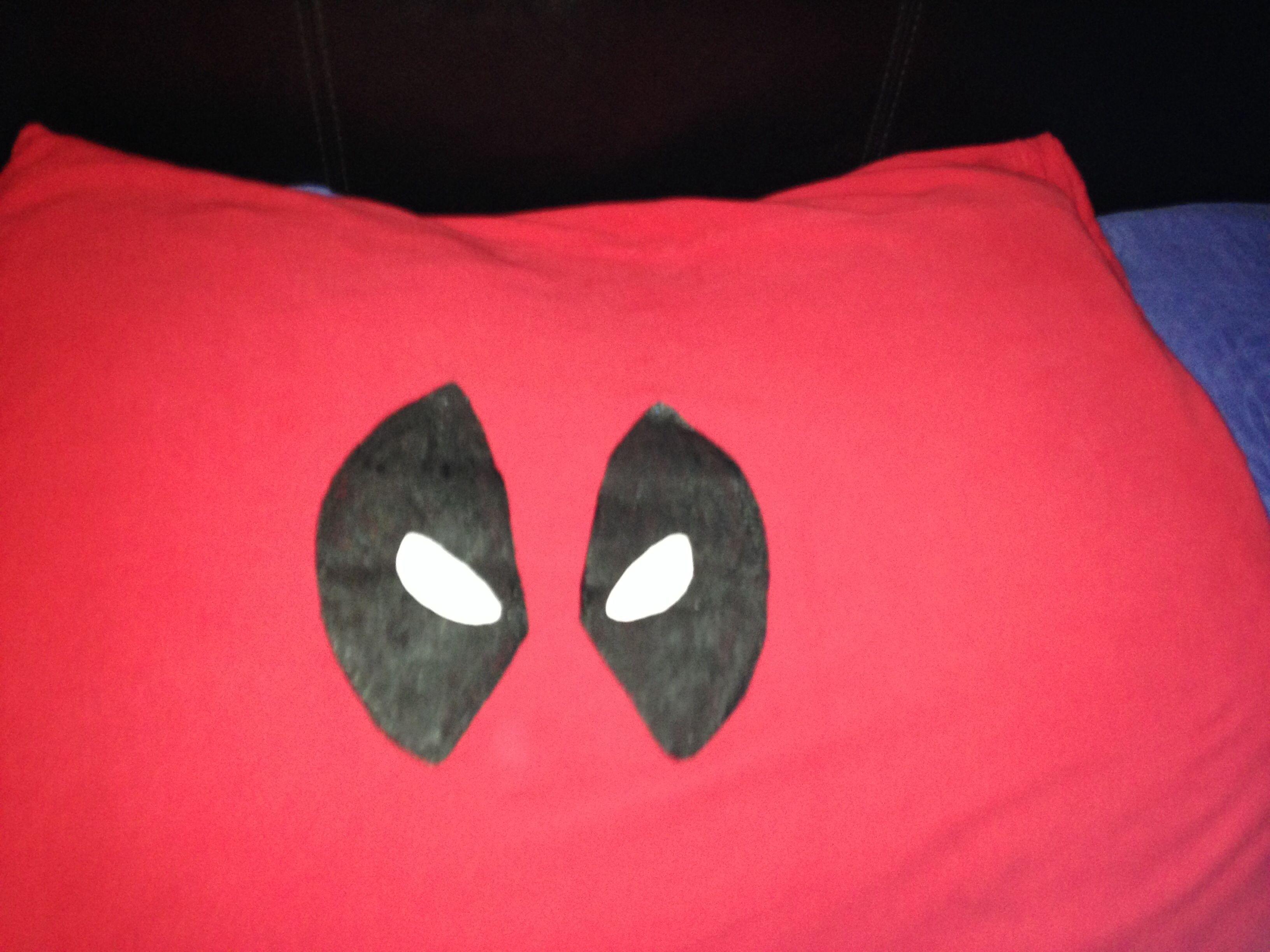 Diy deadpool pillow I made for my sons room | Kadafeis Room (my son ...