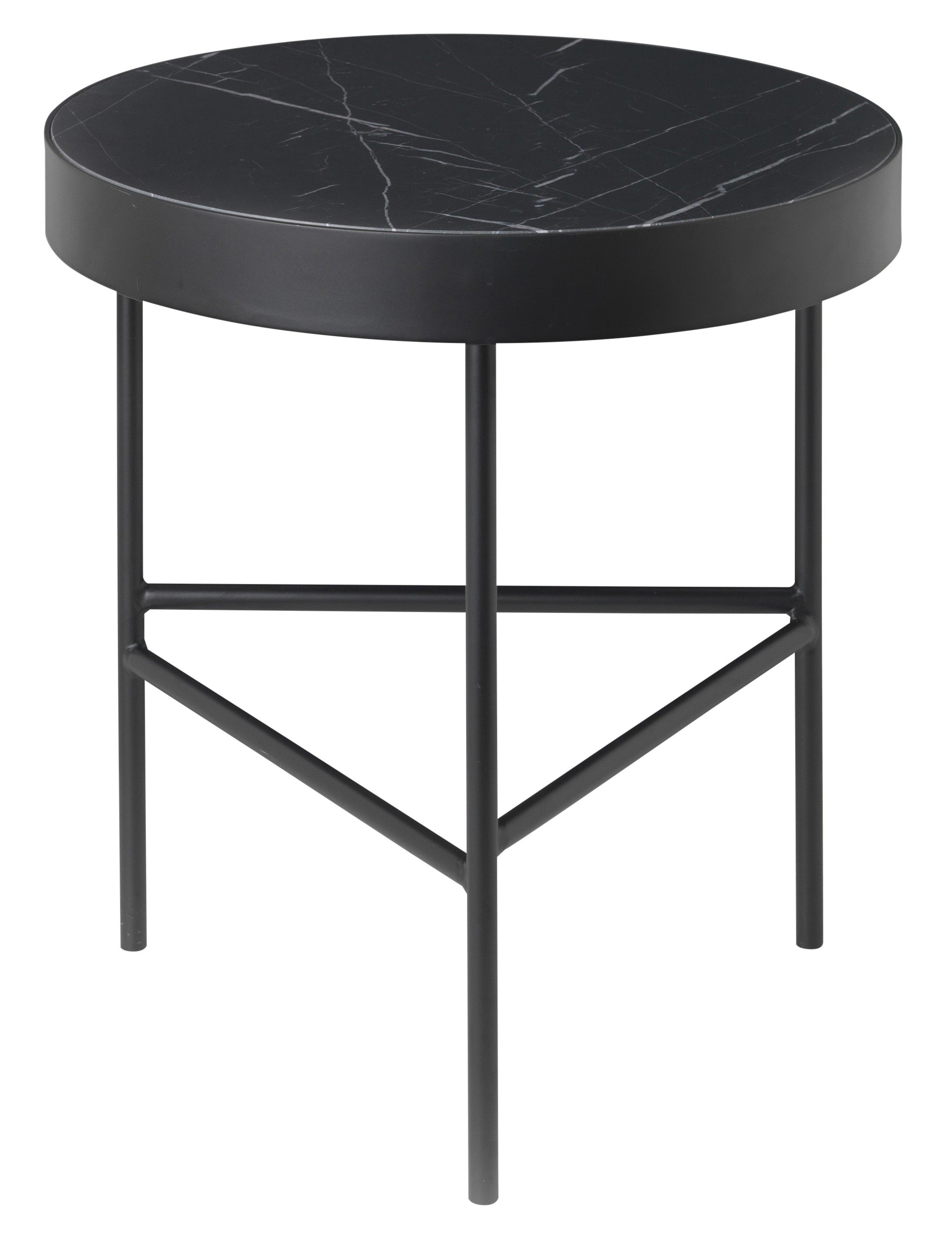 Give Your Space A Luxe Modern Look With This Round Marble Topped