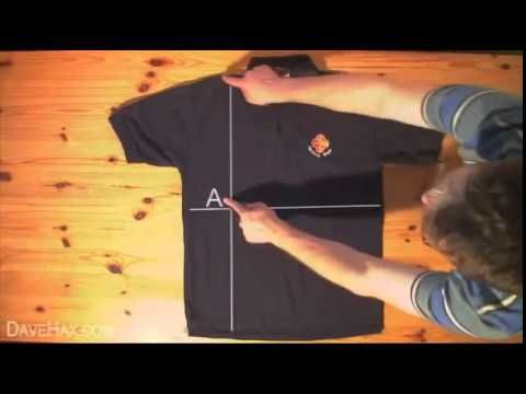 Folding a shirt in under two seconds - How to fold a shirt in under TWO SECONDS HEART TAKING !!!!!!!