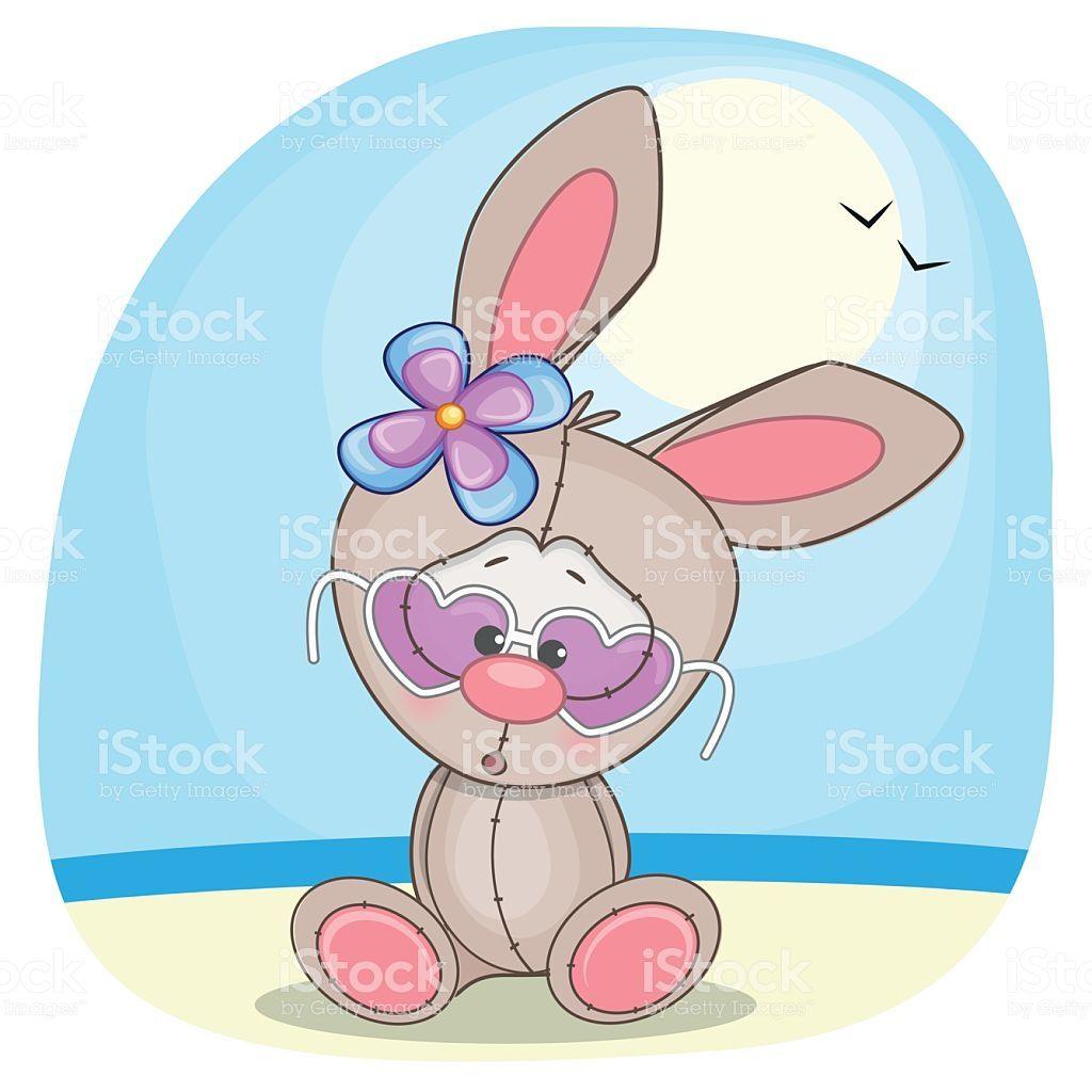 Cute Rabbit Girl In Sunglasses Clip Art Cute Illustration Free Vector Art