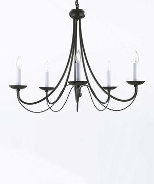 Look what I found on #zulily! Versailles Wrought Iron Five-Light Chandelier by Gallery Lighting #zulilyfinds