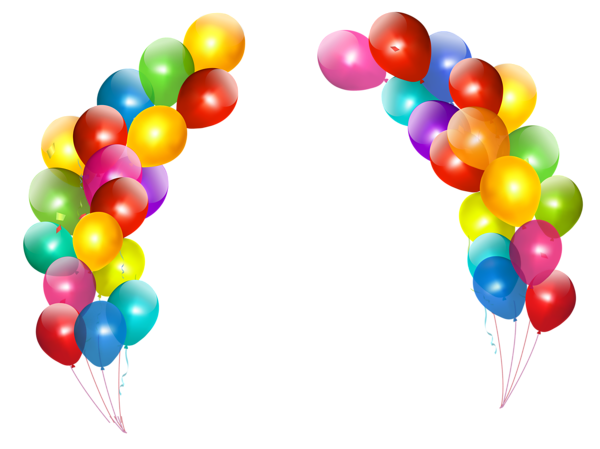 Colorful Balloons Decor Transparent PNG Clipart