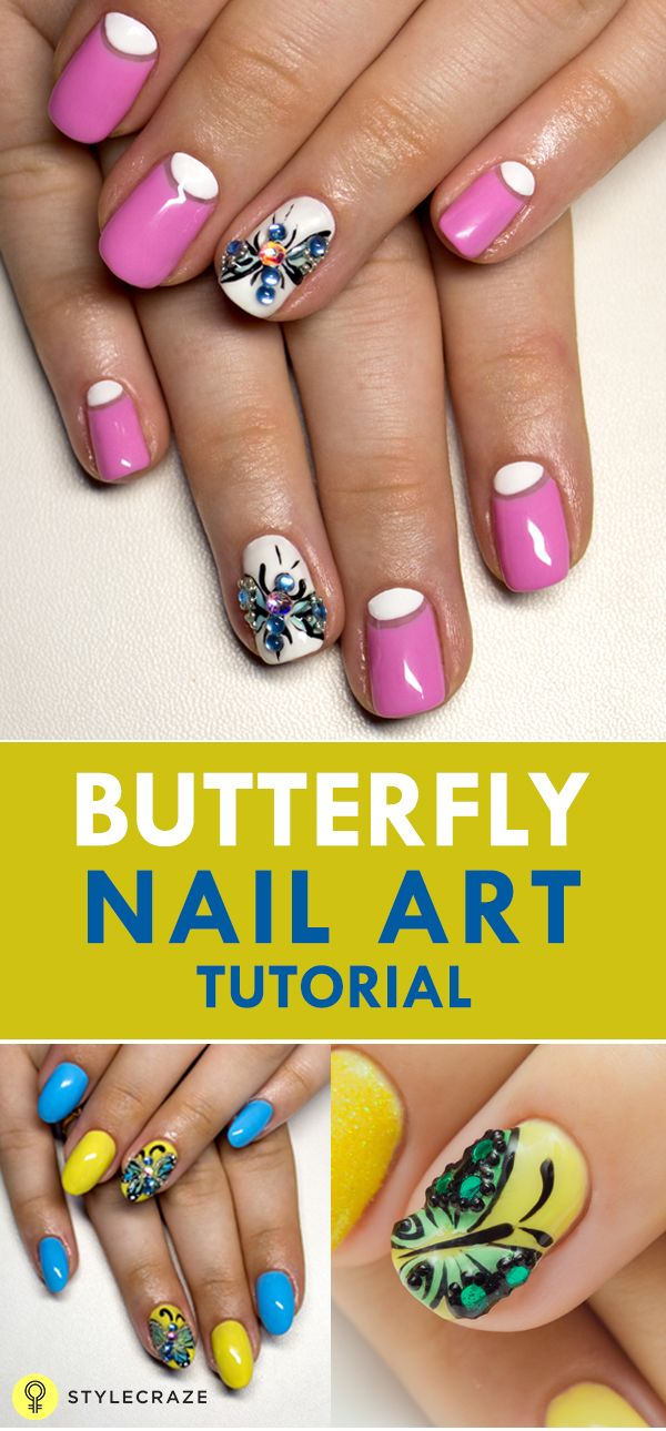 Erfly Nail Art Tutorial With Detailed Steps And Pictures Nailart