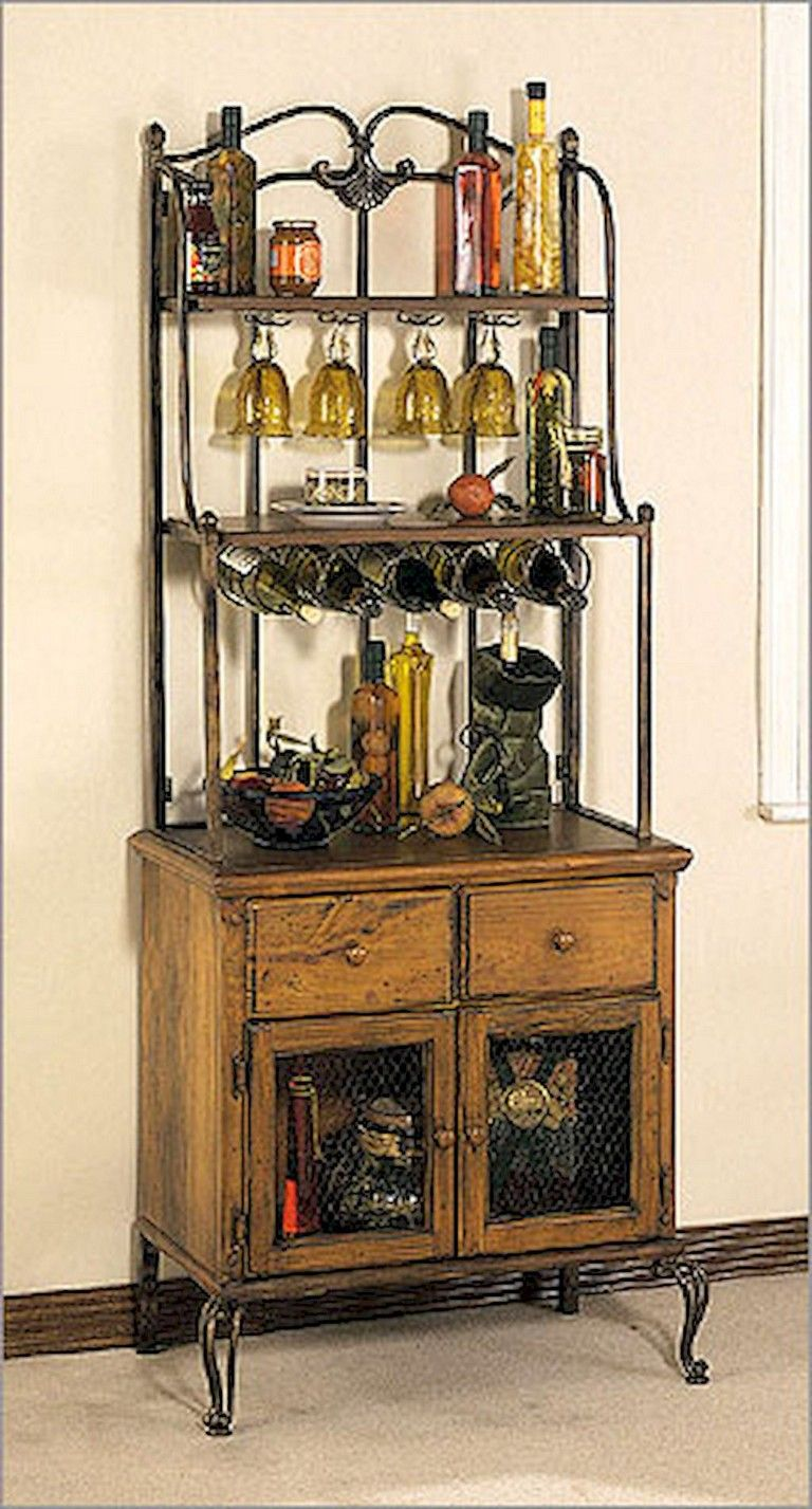 51 Clever Solution Standing Rack Kitchen Decor Ideas Bakers Rack