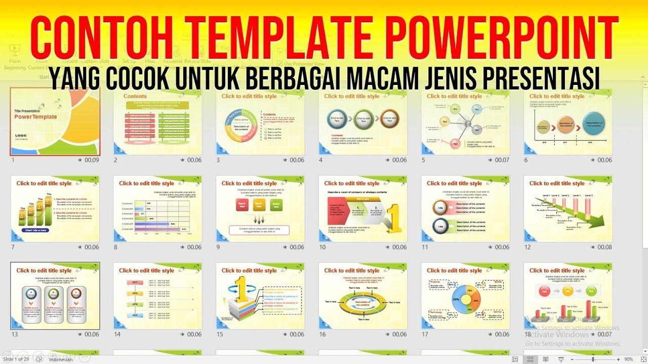 Contoh Template Power Point Menarik Yang Universal Jenis