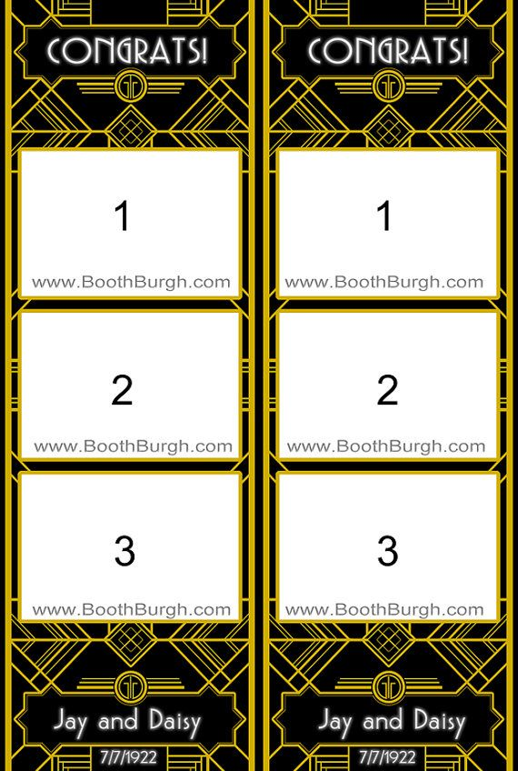 Art Deco photo booth printer template by BoothBurgh on Etsy