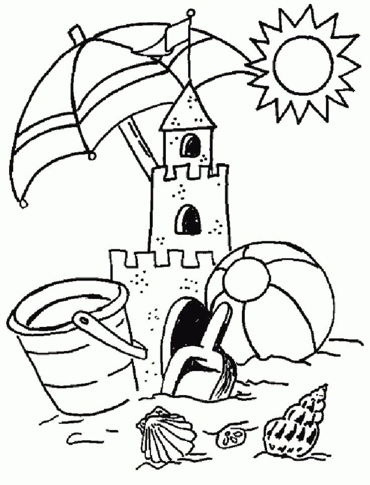 coloring-pages-of-summer-holiday-sand-castle-printable-summer ...