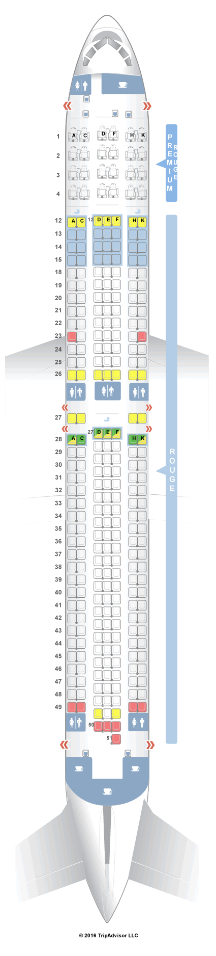 Air Canada 763 Seat Map SeatGuru Seat Map Air Canada Boeing 767 300ER (763) rouge V2