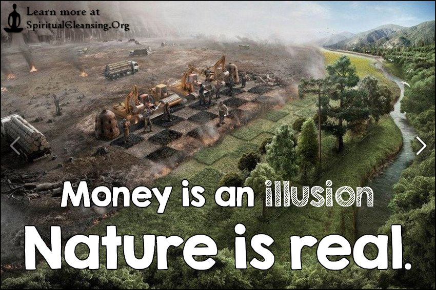 Money Is An Illusion Nature Is Real · IllusionsQuotes ImagesNatureMoney Inspirational ...