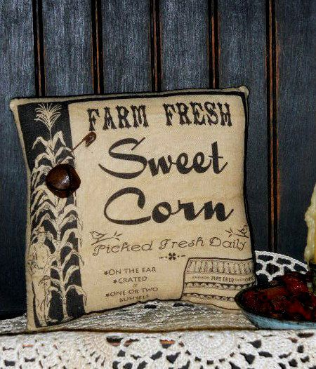 Sweet Corn Primitive Pillow Tuck by CountryThymePrims on Etsy, $7.95