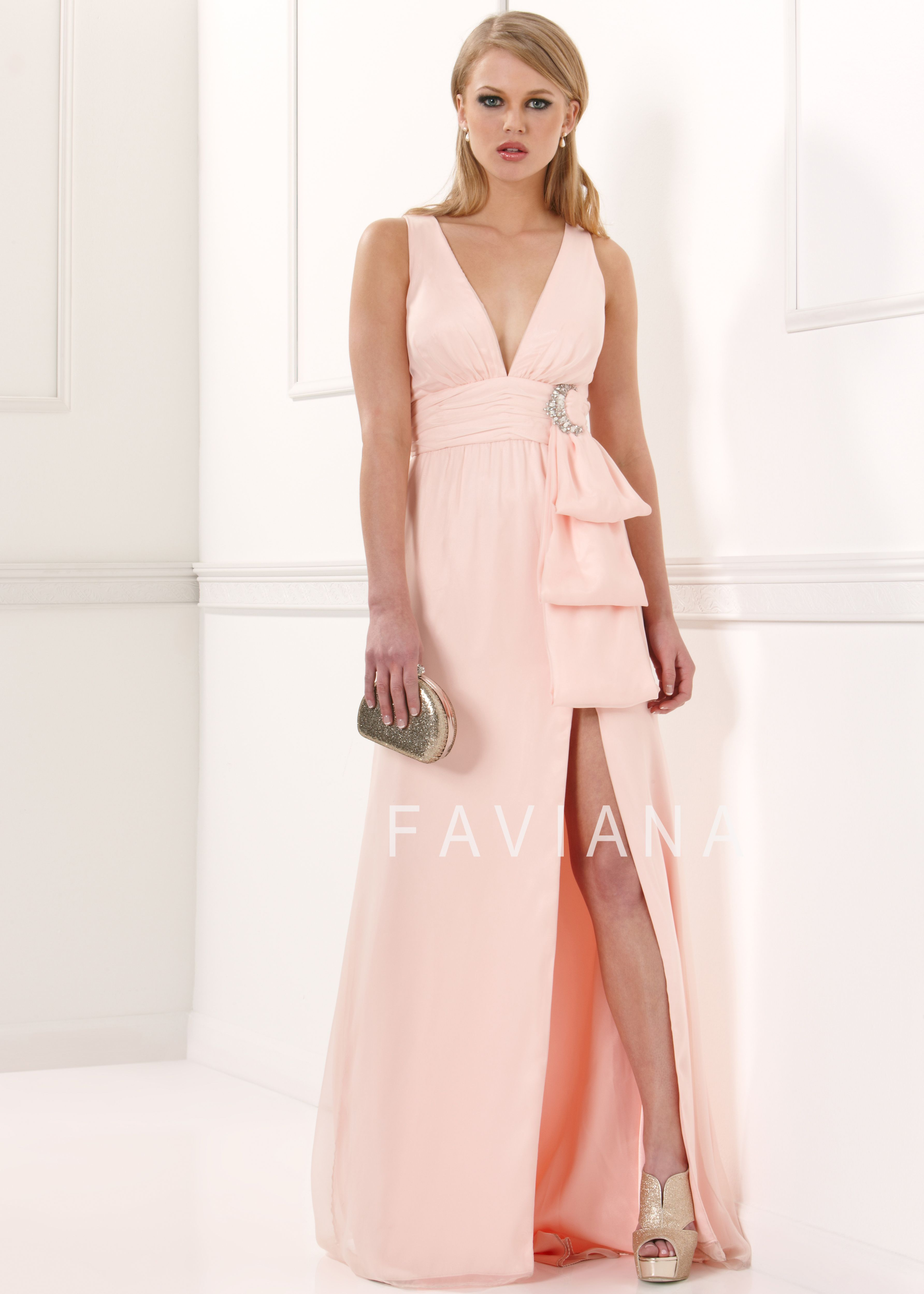 Faviana Prom Dress Style 7001 available in Pink Blush, Sapphire ...