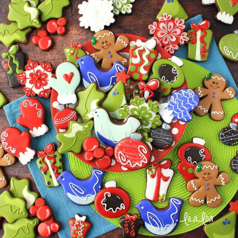 Cute and easy Christmas ornament decorated sugar cookies