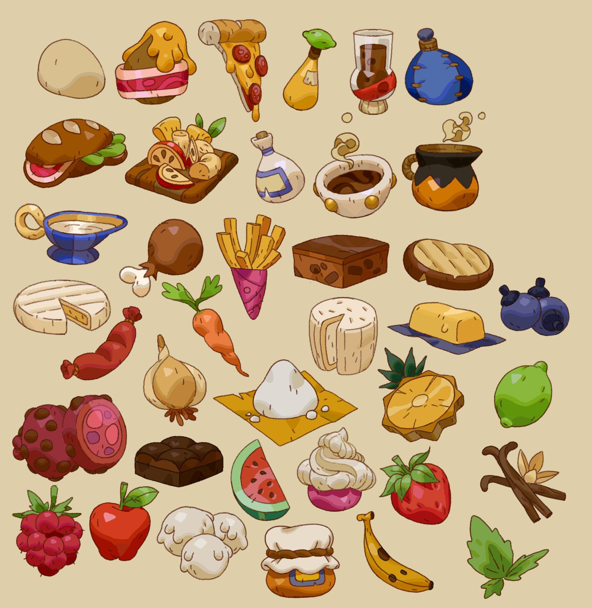 Нарисованные картинки продукты