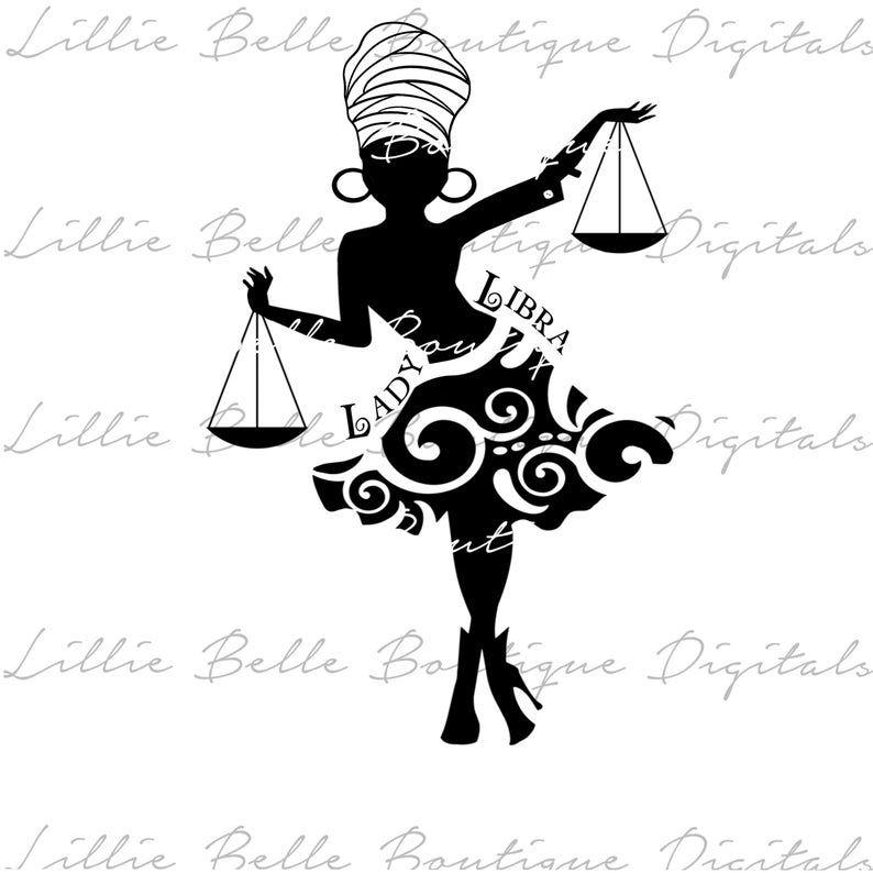Libra Woman African American Woman PNG SVG Free Bonus Image | Etsy in 2020  | Libra women, African american women, Libra
