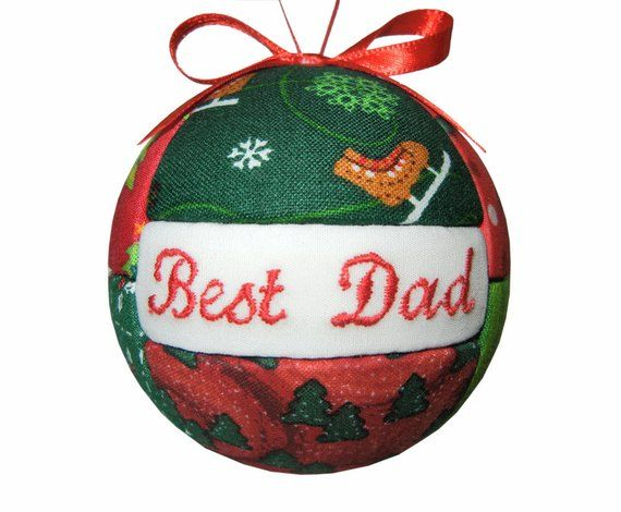 Best Dad Handmade Christmas Ornament Fathers Day Gift For Him Under 20 Tree Decoration Home Decor Birthday Holiday