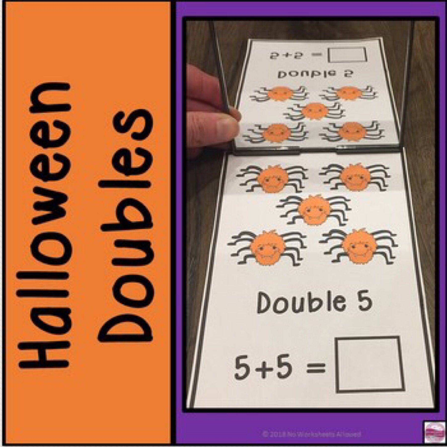 Halloween Doubles Facts Activity