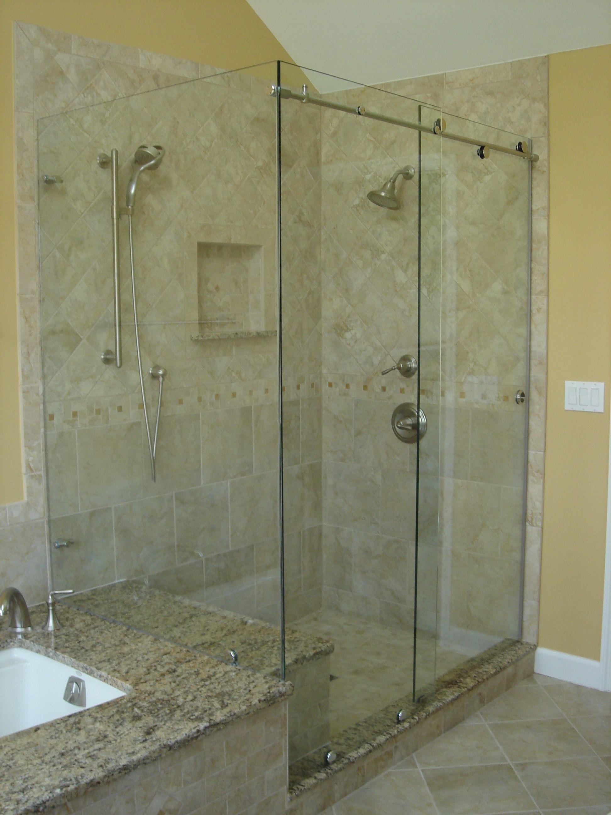 Brewster Glass Shop Blog Showers Frameless Sliding Shower