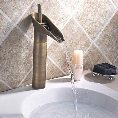 Vasque mitigeur un trou in laiton antique robinet lavabo salle de bain toilette pinterest - Robinetterie laiton salle de bain ...