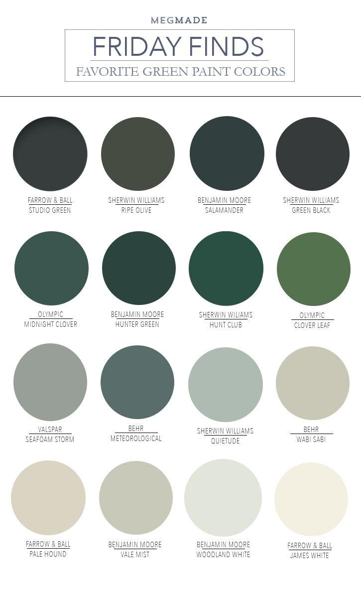Friday Finds - 14 Favorite Green Bedrooms #masterbedroompaintcolors