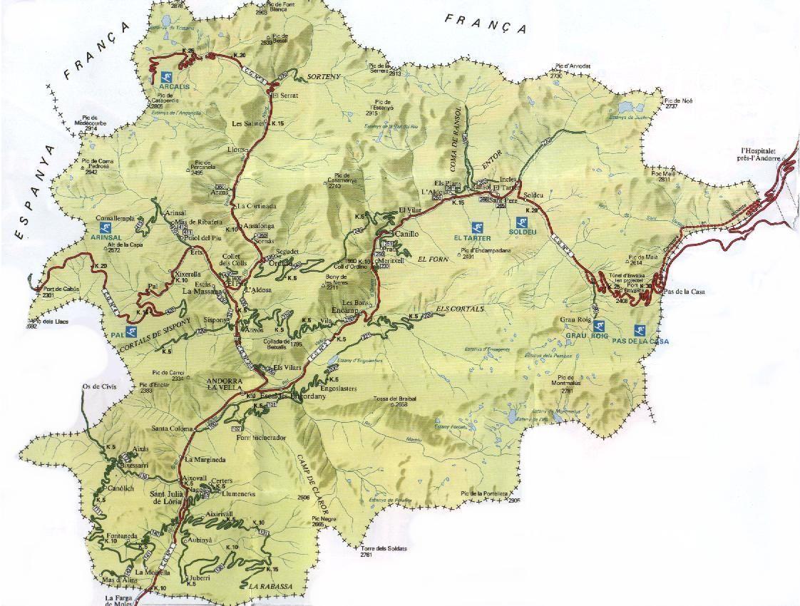 Map Of Andorra Carto Pinterest Andorra Andorra Map And Map